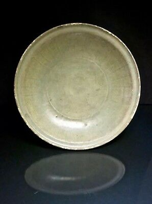 Large Antique Chinese Yuan Or Early Ming Dynasty Porcelain Plate