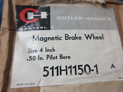 "UNUSED NOS Cutler Hammer 511H1150-1 Magnetic Brake Wheel 4"" Inch 0.50"" Bore"