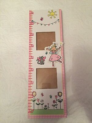 Childs Wooden Height Chart With Photo Frames Watch Me Grow