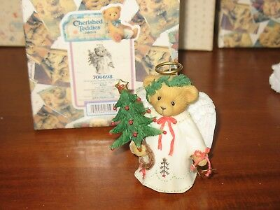 Cherished Teddies Ariel 706698 Angel With Tree Christmas