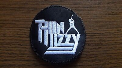 Thin Lizzy,sew On White Embroidered Patch