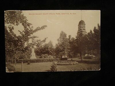 Grafton ND, The Walsh County Court House Park 1911