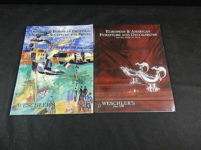 """Weschler's Auction Catalogs """"american & European Furniture Paintings Drawings"""""""