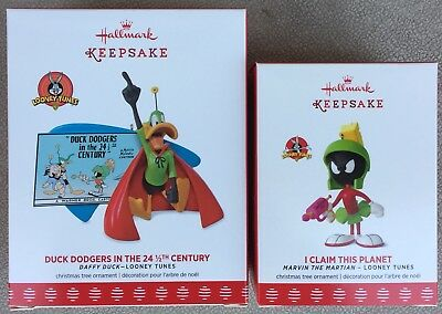 2017 Hallmark I Claim This Planet (Lmt Ed) & Duck Dodgers in 24 Century ornament