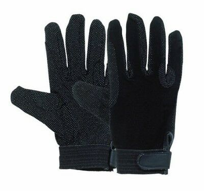 (Large, Black) - Harry Hall Pimple Grip Gloves. Shipping Included