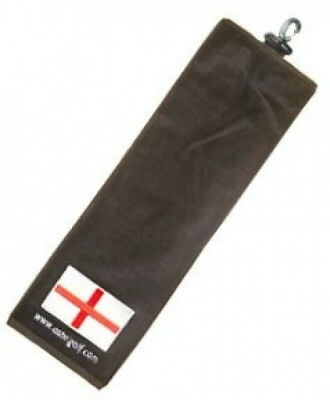 Trifold Golf Bag Towel - England Flag + Free Sherpashaw Tees. Free Shipping