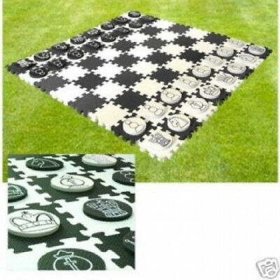 Giant Waterproof Garden Chess And Draughts Set. Royal Court. Huge Saving