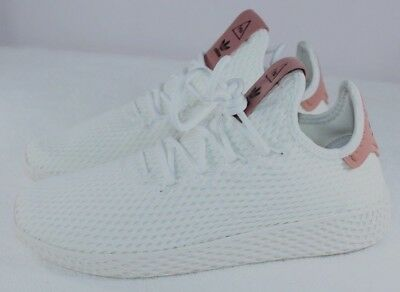 hot sale online 7937f 15fe2 Adidas Originals Boys Girls Pw Hu J Tennis Shoes Cp9805 White Pink Youth 6  1