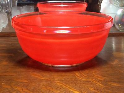 Vintage Phoenix glass red  mixing bowl made in England