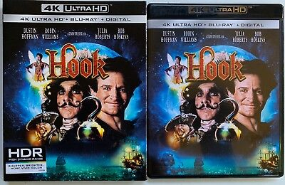 Hook 4K Ultra Hd Blu Ray 2 Disc Set + Slipcover Sleeve Free Shipping Robin Willi