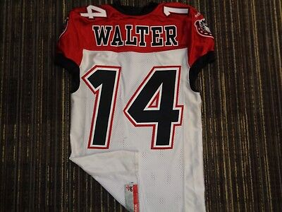 2037e978dc7 Game Used Matt Walter  14 Calgary Stampeders Reebok Cfl White Football  Jersey 40