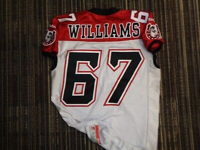 fd20fee8a1d Game Used Garry Williams  67 Calgary Stampeders Reebok Cfl Game Football  Jersey
