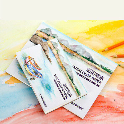 12 Sheets Watercolor Paper Sketch Book Set Painting Pad Student Art Supplies
