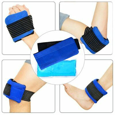 Hot and Cold Gel Compress Wrap - Reusable Ice and Heat Pack Wrap for Back AZ