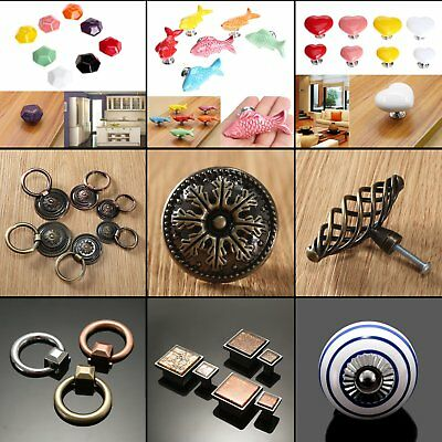 Single-hole Ceramic Alloy Cabinet Knob Drawer Cupboard Door Pull Handle Hardware