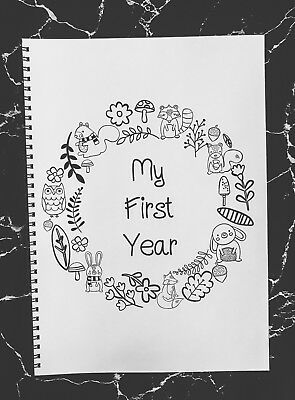My First Year Baby Book Woodland Memory Book Baby Shower Gift Keepsake Milestone