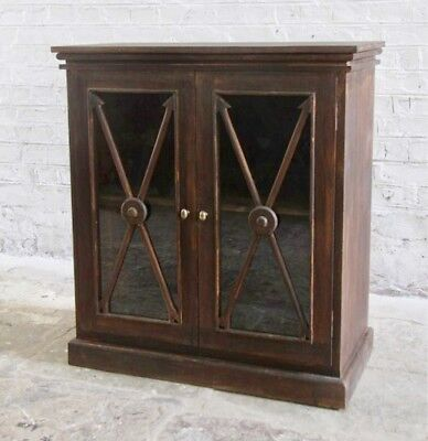 French Provincial Wooden Shelve Sideboard Dresser Cabinet With Glass Doors
