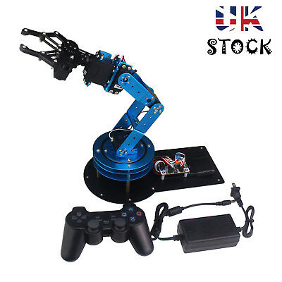 LeArm Unassembled 6DOF Mechnical Robotic Arm 6PCS Digital Servo & PS2 Handle *UK