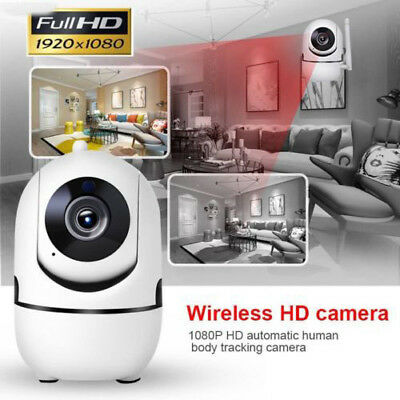 Smart 1080P Home Security WiFi IP Camera Auto Track Body Wireless Surveillance