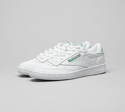 205fc53caee Reebok Classic Club C 85 Men s White Green UK 13 Sneakers Trainers Casual