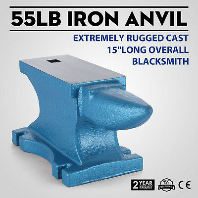 55LB Iron Anvil Extremely Rugged Cast Blacksmith Silversmith Steel Industrial