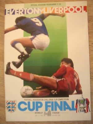 F.A. CUP FINAL 1986........EVERTON  v  LIVERPOOL.......MINT CONDITION