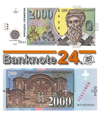 Macedonia 2000 Denari 2013  - Private issue Gabris, Specimen Unc P5533