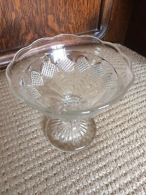 Vintage Clear Glass Compote