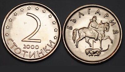 BULGARIA 2 Stotinki, 2000, KM:238, UNC World Coin