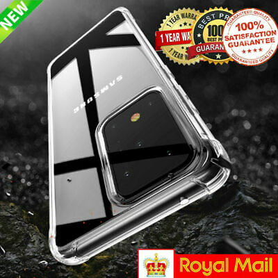 CLEAR Case For Samsung Galaxy S20 S9 S8 S10 Plus Ultra Silicone Gel Shockproof