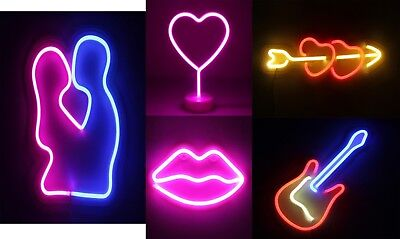 NUÜR Neon Lights LED USB Powered Wall Decor for Living Room Office Christmas Kid