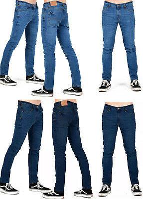 New Men's Stretched Clubwear Jeans Acid Wash Denim Trouser fit 5 Pockets Style