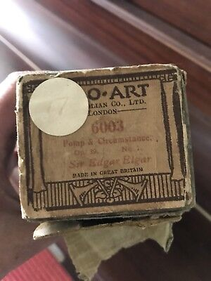 duo art pianola roll Pomp And Circumstance Played By Sir Edgar Elgar Antique