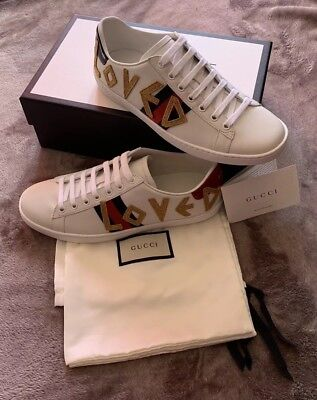 3ac1dce471d BRAND NEW GUCCI New Ace Embroidered Sneakers Size 38.5 -  425.00 ...