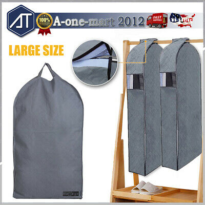 Foldable Travel Garment Storage Suits Bag Cloth Cover Carrier Dust Protector