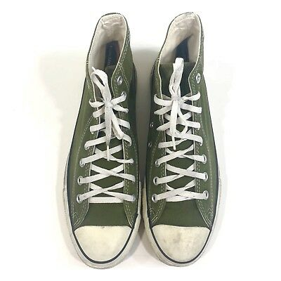 5afa2f8905d552 Converse Made In USA Mens Size 9 Chuck Taylor Hi Top Lace Up Moss Green  Vintage