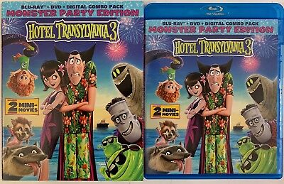 Hotel Transylvania 3 Blu Ray Dvd 2 Disc Set + Slipcover Sleeve Monster Party Ed