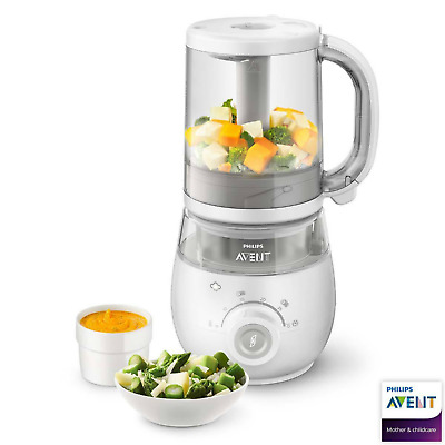 Philips AVENT 4-in-1 Healthy Baby Food Maker,Steamer blender Defrost Reheat