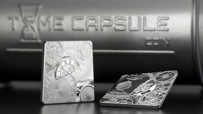 """Cook Islands - """"TIME CAPSULE"""" Square - Shaped 1 Oz Silver Proof Coin 2017 !"""