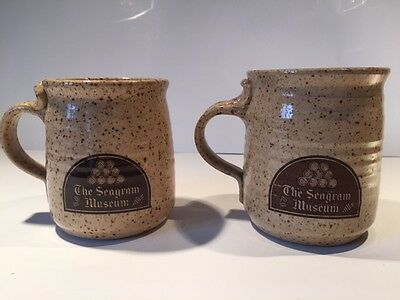 SET of 2 NORTHWIND STONEWARE The Seagram Museum Edition Pottery Mugs CANADA