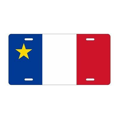 "Acadian Flag Novelty Auto Plate 6"" x 12"" License Plate"