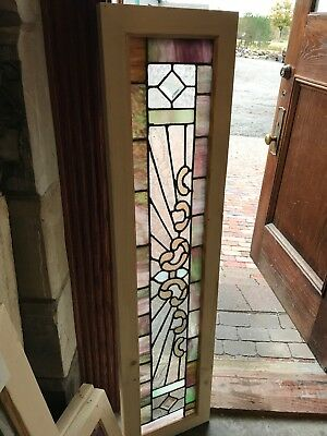 SG 2582 Antique Stainglass Transom Window 13 1/8 X 54 3/8""