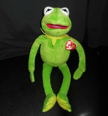 17 kermit the frog muppet babies stuffed animal plush toy doll w