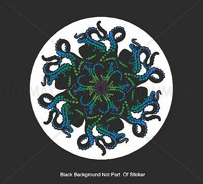 Octopus Tentacle Art Green Ocean Sea Life Nature Fish Printed Vinyl Sticker