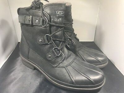541bcdf33f3 UGG WOMENS CECILE black boots size 10 # 1007999 ( G10)