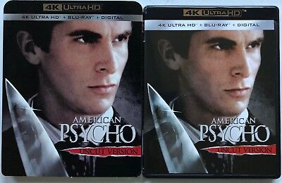 American Psycho 4K Ultra Hd Blu Ray 2 Disc Set + Slipcover Sleeve Free Shipping