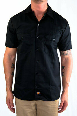 Dickies Button Up S-S Black