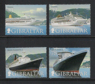 Gibraltar - 2007 Ocean Liners/ships Sg1207/10 Full Set 4 - Mint Unhinged  Superb