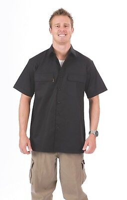 DNC Cotton Cool Breeze Work Shirt Underarm & Upper Back Mesh Vents Size S - 5XL