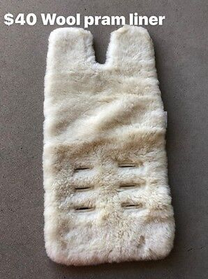 Woolen Lambs Wool Baby Pram Liner, hardly used. Great condition